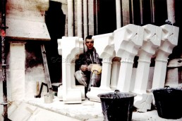 Astragale Eglise St Vincent de Paul Les réformés (Marseille) - Pose des éléments de balustrade