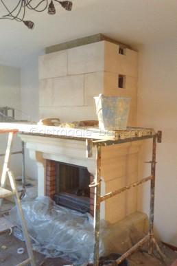 Astragale Restauration d'une cheminée - Pendant les travaux