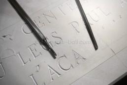 Astragale Musée Arbaud (Aix en Provence) - Gravure à la main sur pierre